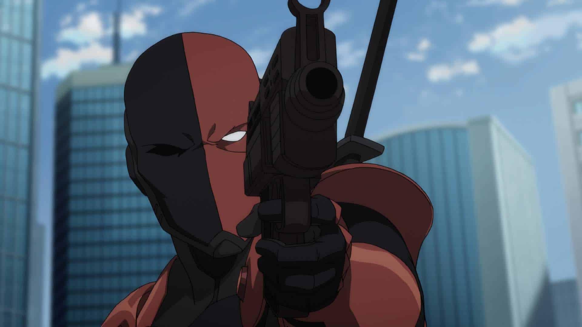 Exterminador (Deathstroke) na animação Novos Titãs: Contrato de Judas