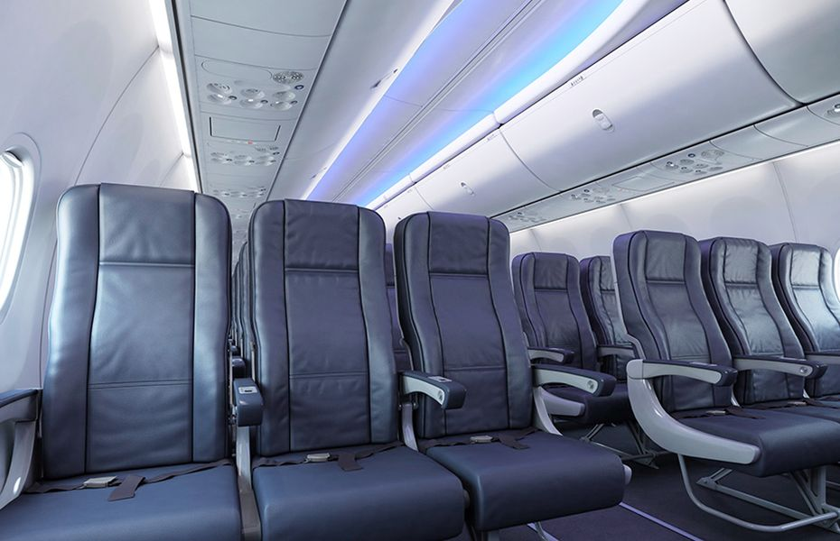 Airline business cabin