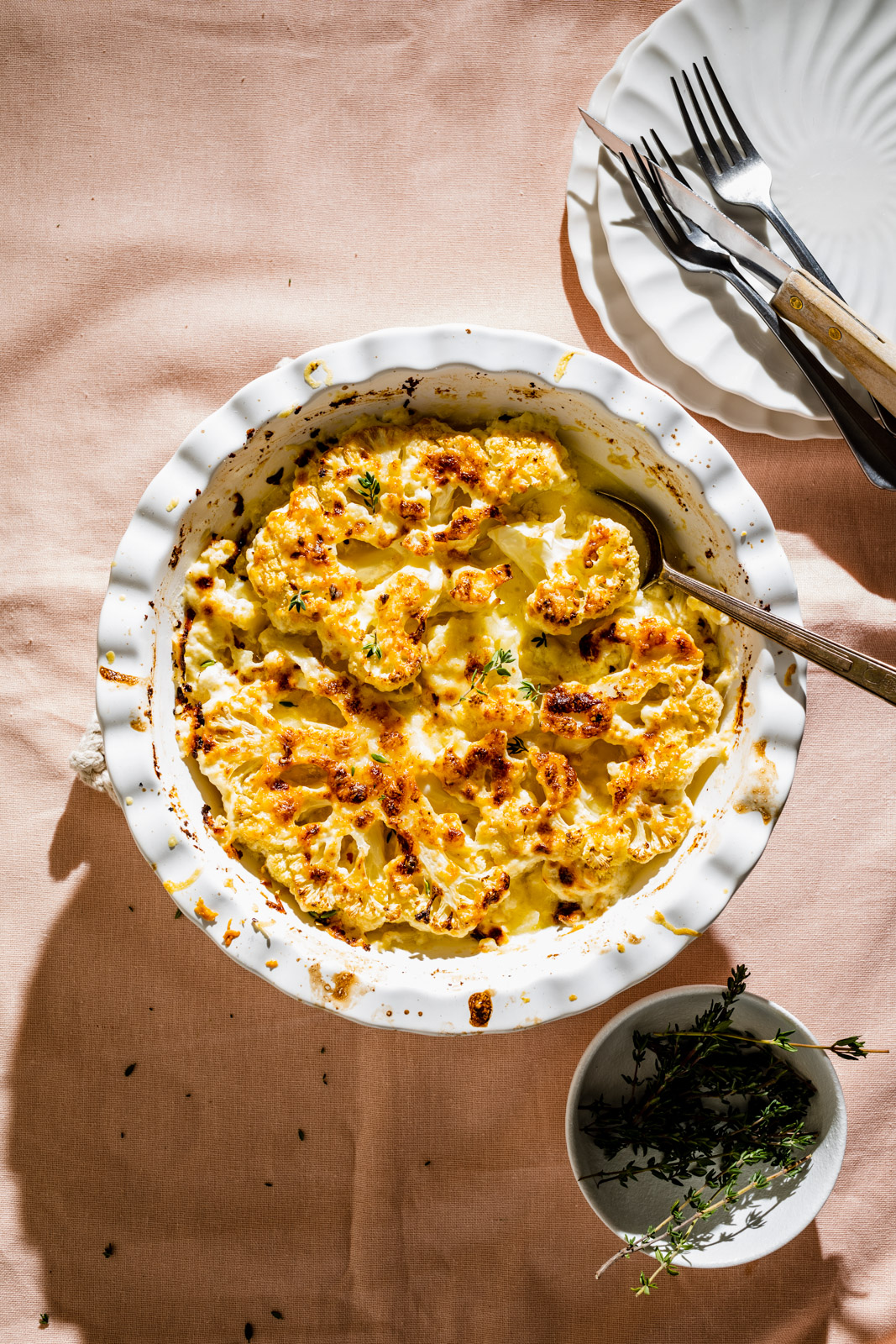 Creamy Cauliflower and Onion Gratin