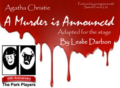 A Murder is Announced flier