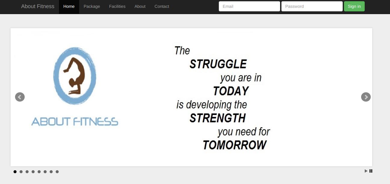 Buff Fitness Webpage