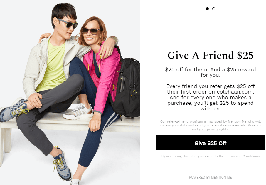Colehaan referral program