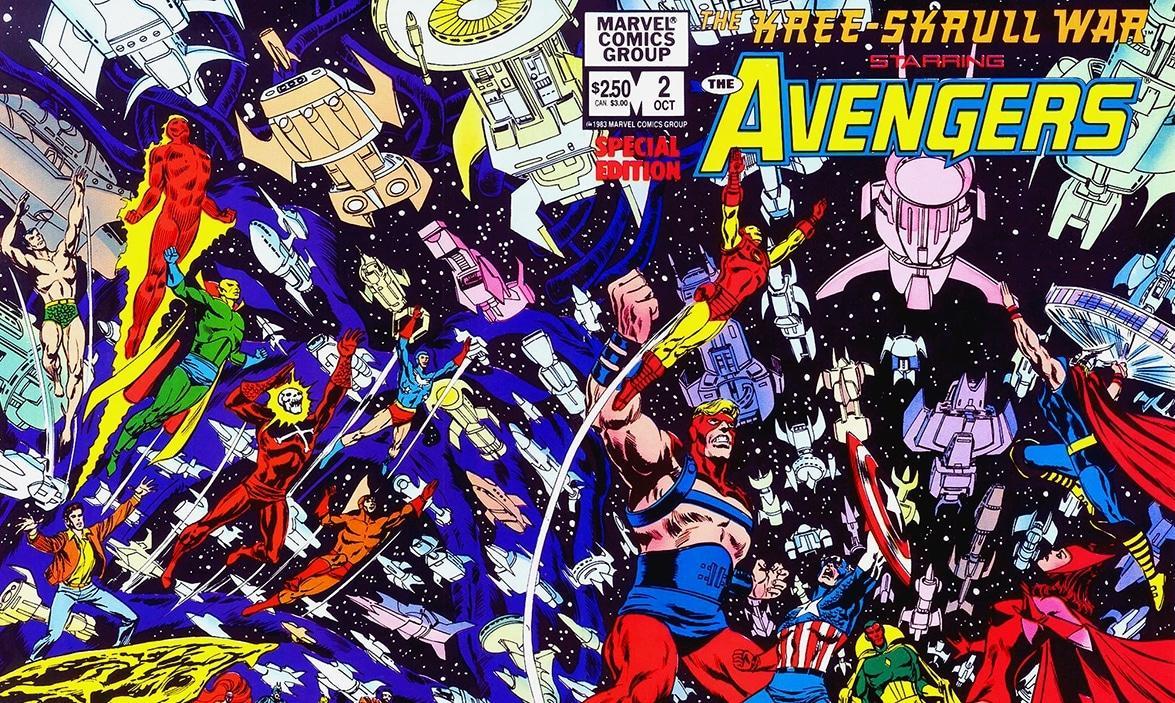 vingadores reunidos em vingadores a guerra kree skrull da marvel comics
