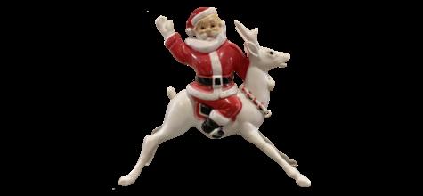 Hi-Ho Santa on Reindeer photo