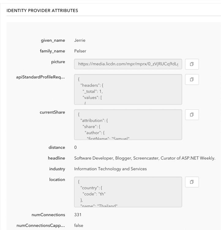 linkedin user details