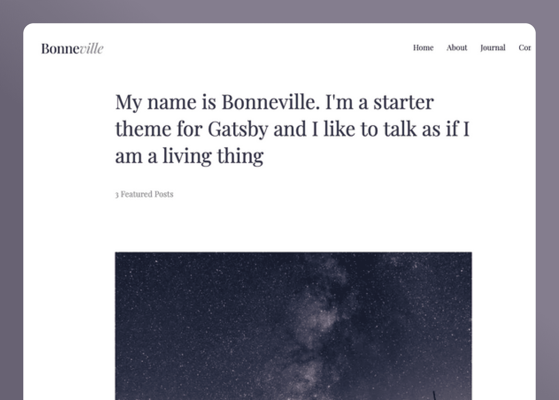 Gatsby Bonneville- cover