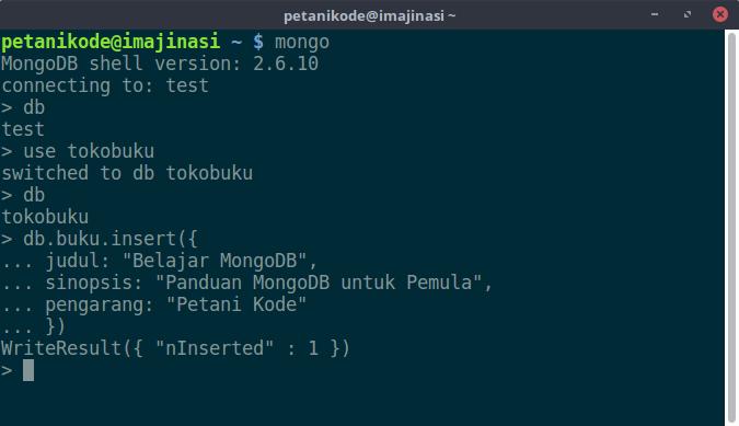 Insert data MongoDB