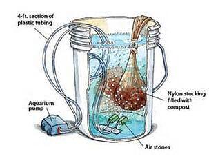 Compost Tea Brewing Diagram
