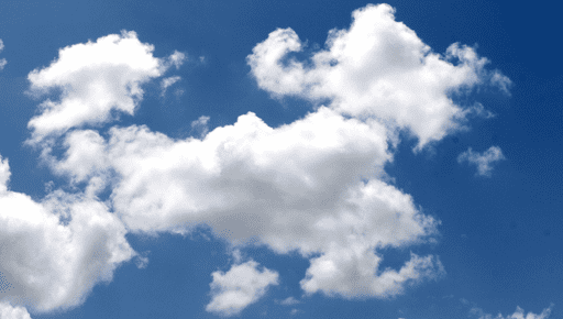 White clouds in the blue sky #forecasting