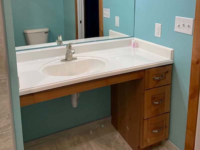 bathroom sink after a remodel by CorHome