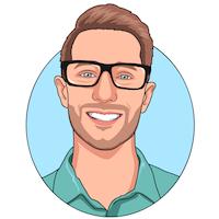 cartoon headshot of Zac Heisey