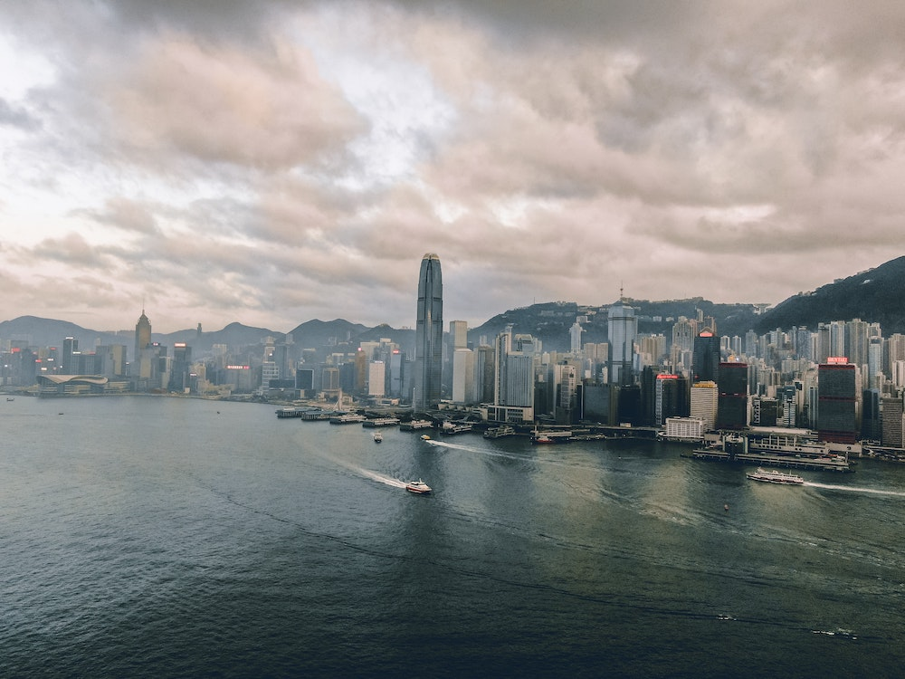 International Commerce Center - a big skyscraper in Hong Kong