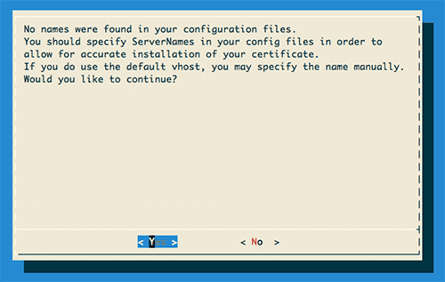 Figure 1: First screen of the letsencrypt client GUI banner.