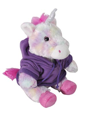 "The Petting Zoo: 9"" Hoodie Tie Dye Unicorn"
