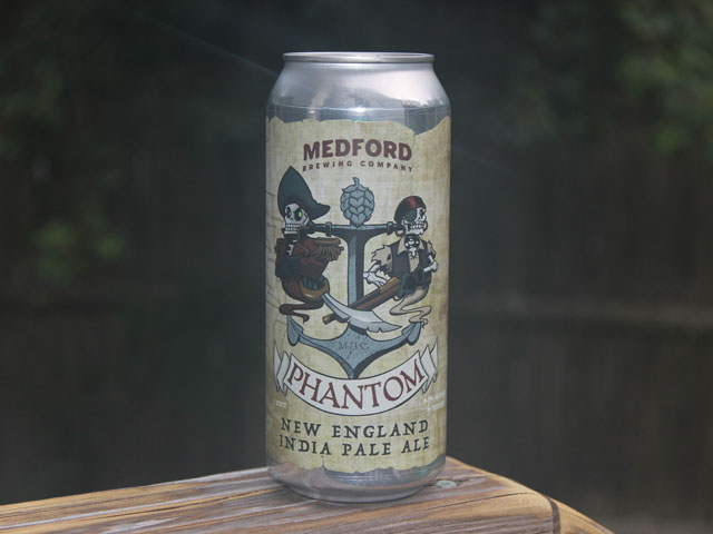 Phantom, a NEIPA brewed by Medford Brewing Company