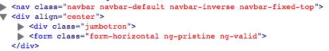 elements in code