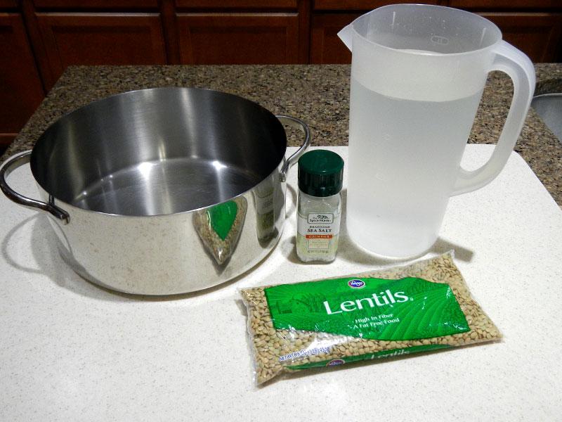 Setup for Cooking Lentils