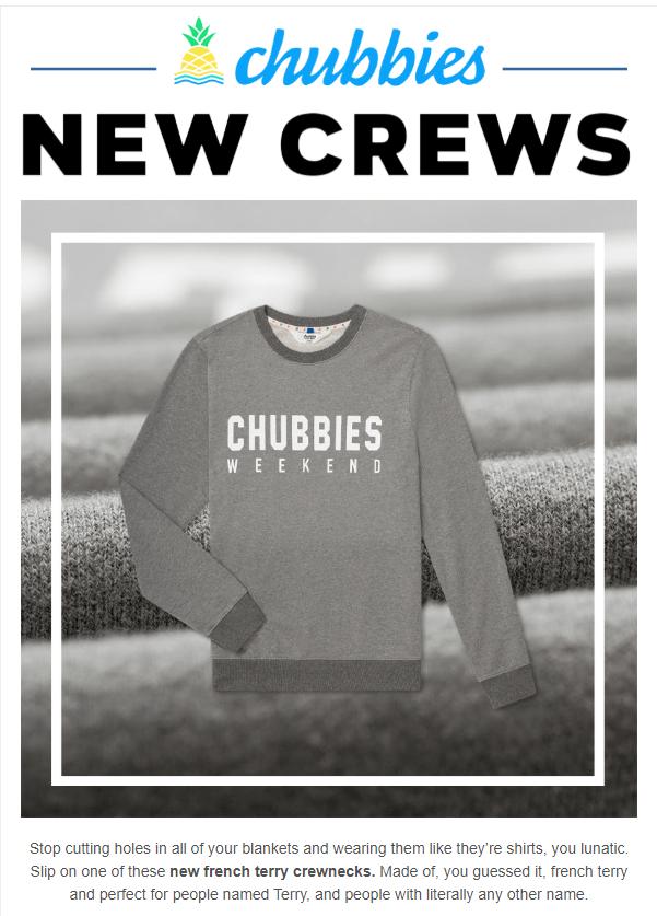 Chubbies new crews