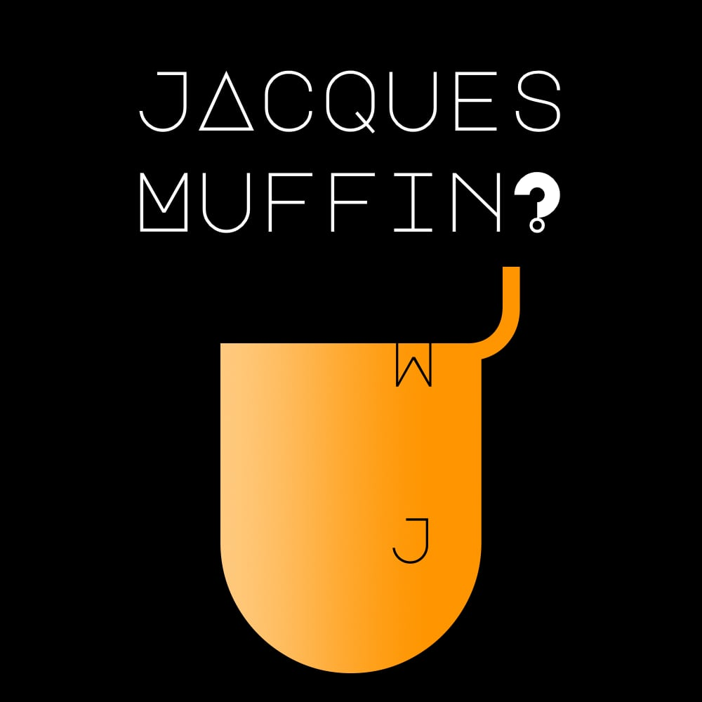 Logo Jacques Muffin sur fond noir