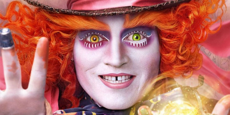 Johnny Depp as the Mad Hatter in Through the Looking Glass