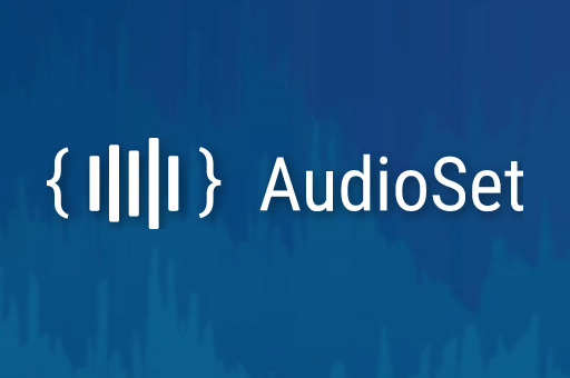 "The word ""AudioSet"" over a blue background of overlapping audio waveforms."