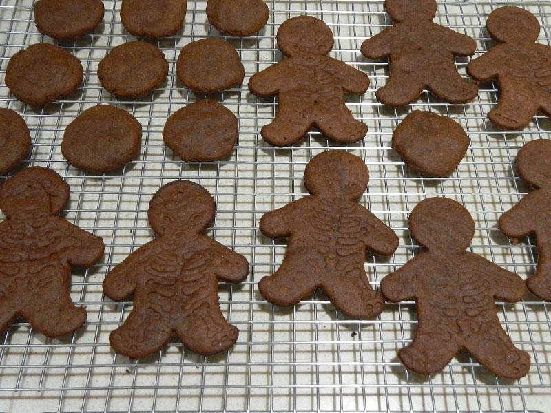 Skeleton Cookies Cooling