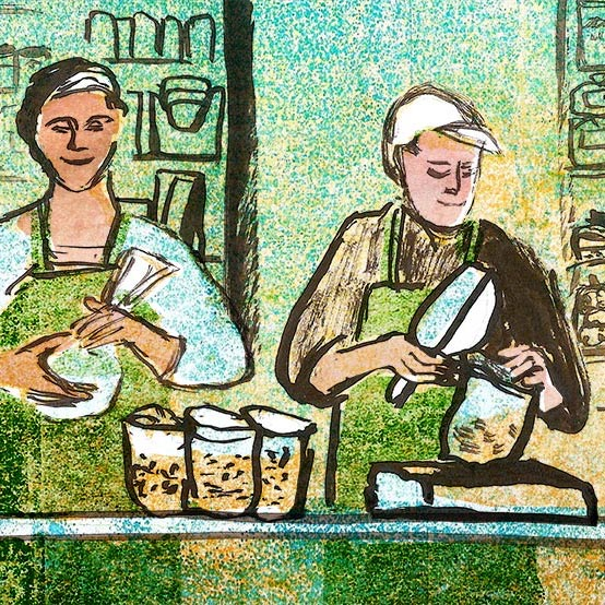 Illustration for Daily Bread website