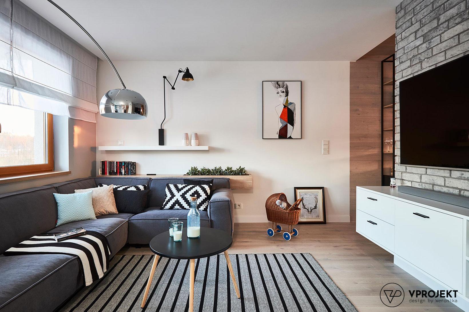 Pokój dzienny, dom w Ostródzie