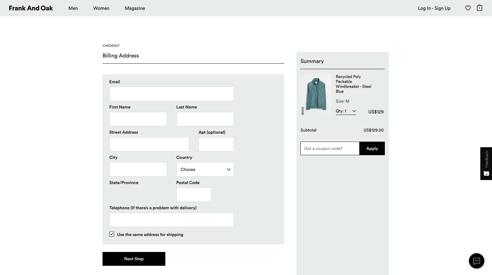 Chunked payment process for ecommerce UI