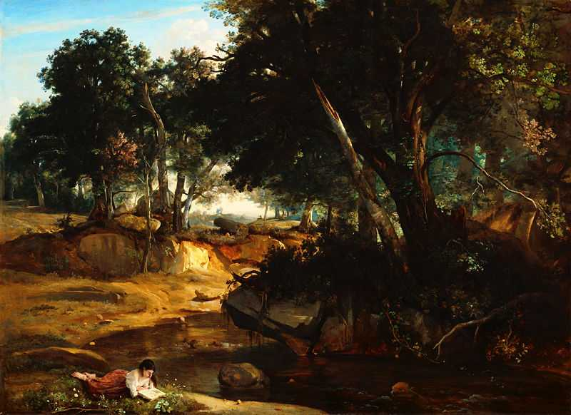 View of the Forest of Fontainebleau, by Camille Corot in 1830