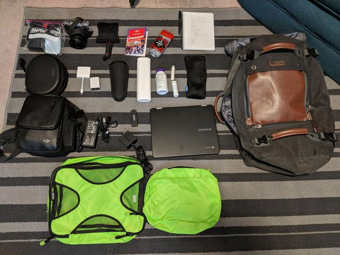 All I packed for a Month in Japan