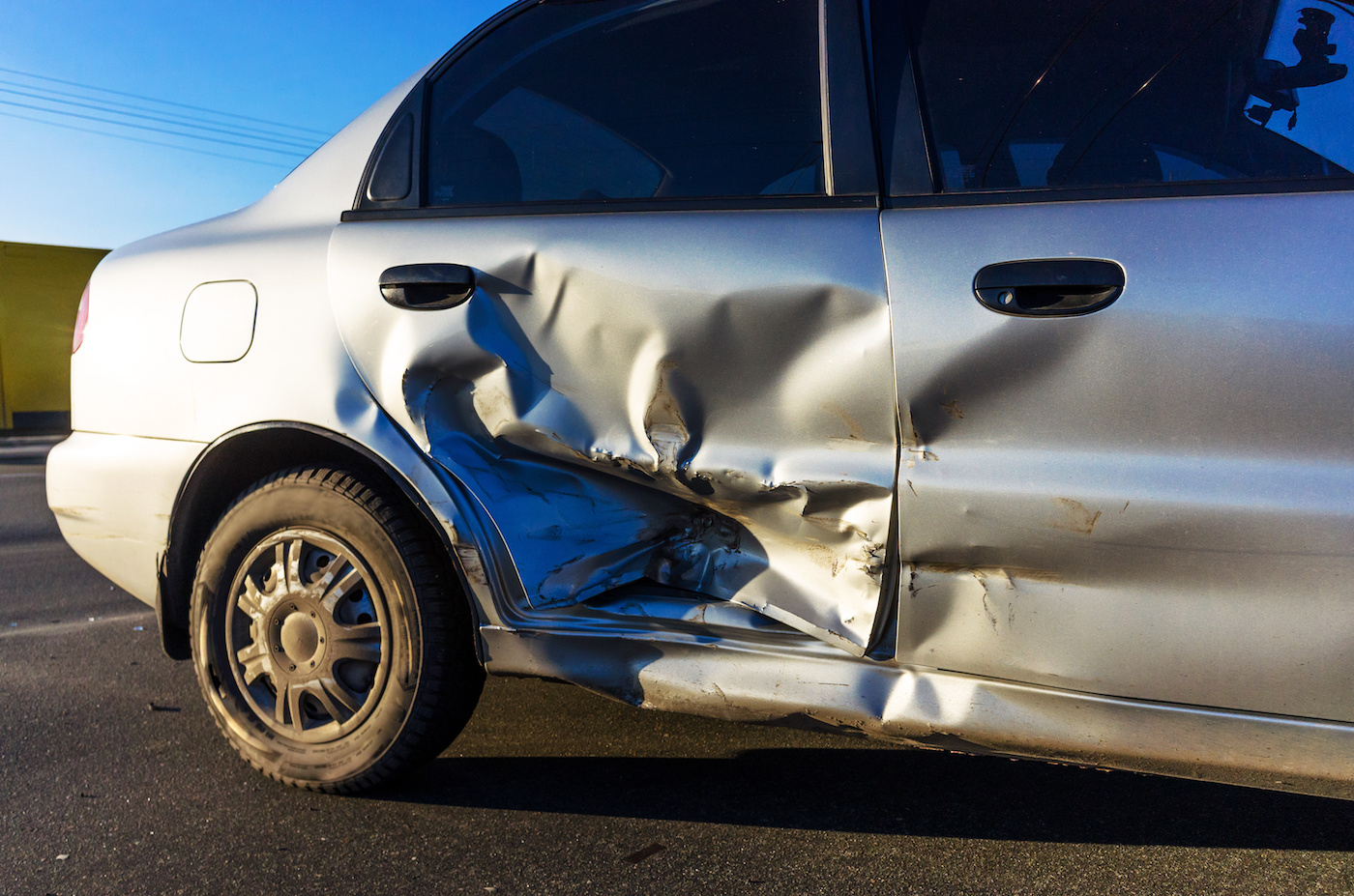 Vehicle crash damage