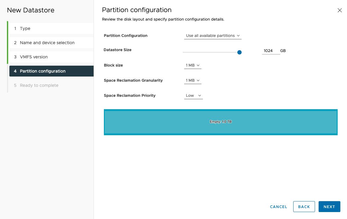 Configure Qnap iSCSI as VMware Datastore - 17