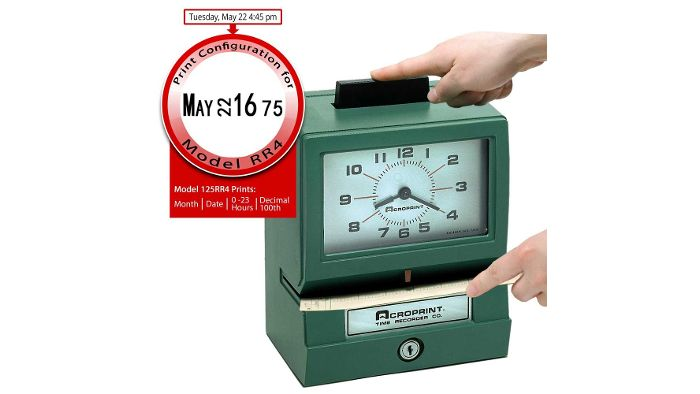 125RR4 Heavy-Duty Manual Time Clock