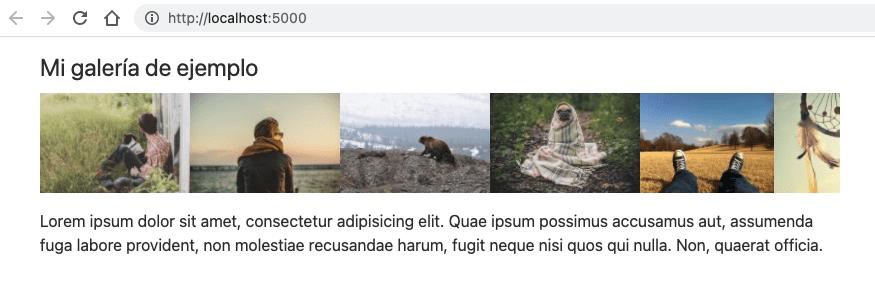 Ejemplo de carousel de imágenes en Svelte