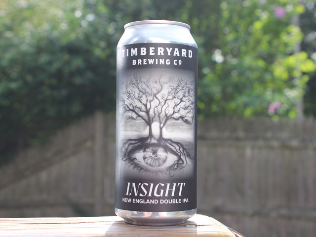 Insight, a New England Double IPA brewed by Timberyard Brewing Company