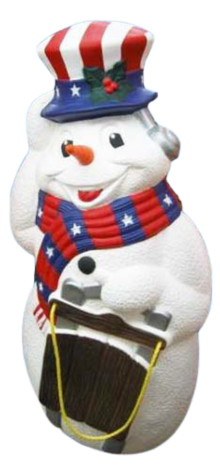 Snowman With Sled Americana photo