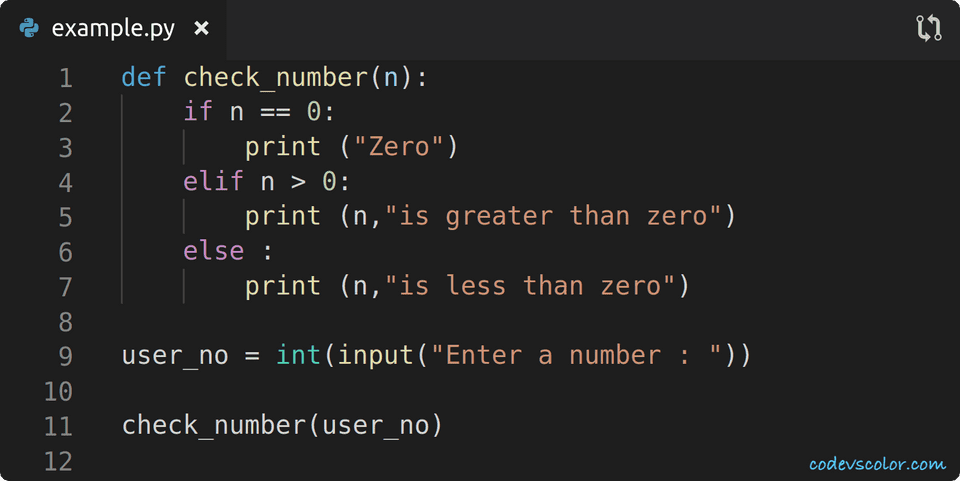 python check if a number is positive or negative