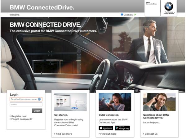 ConnectedDrive web portal