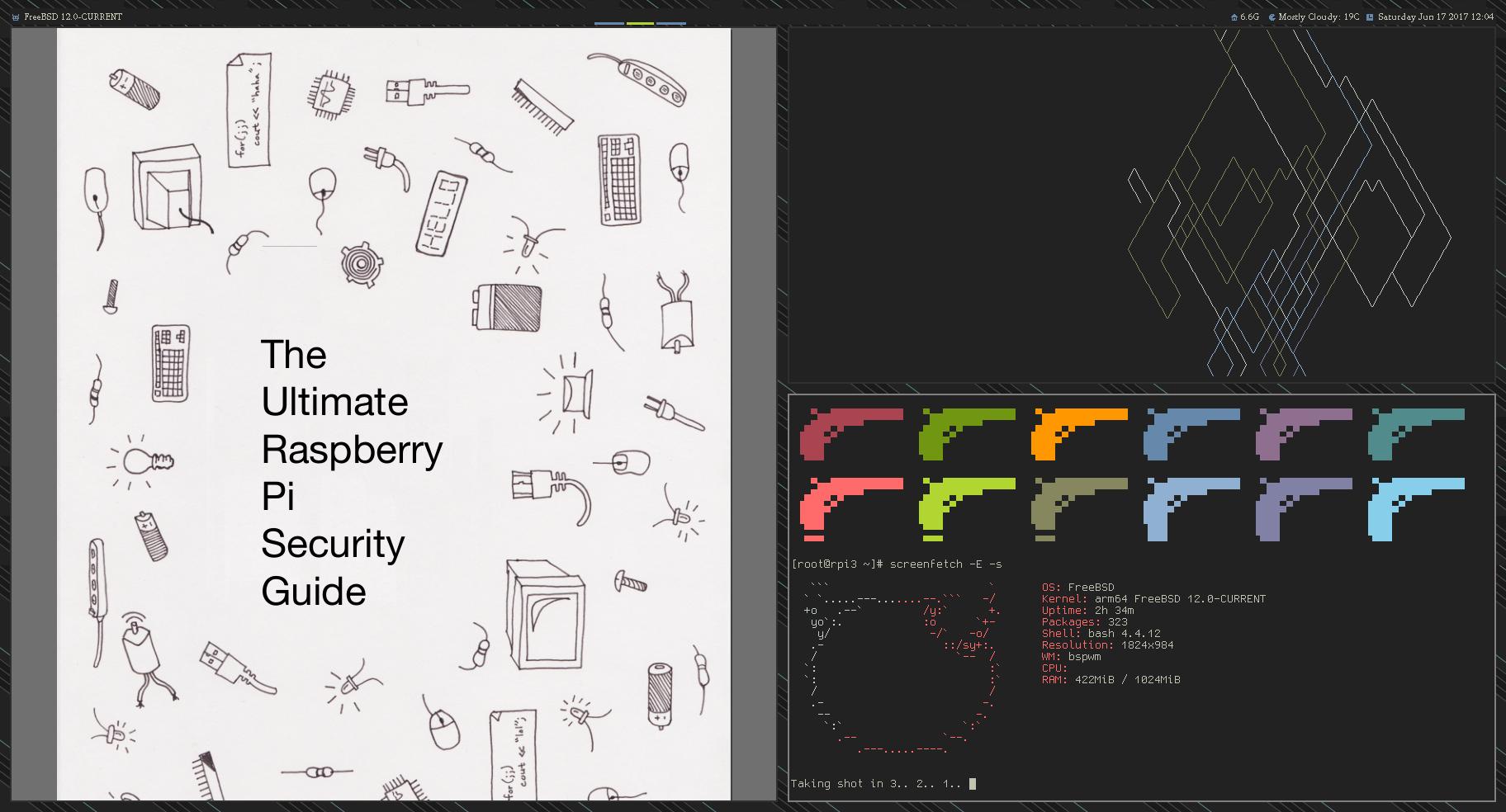 RPI3: FreeBSD 12, bspwm