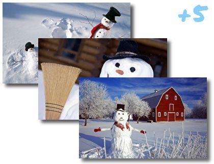 Snowmen theme pack