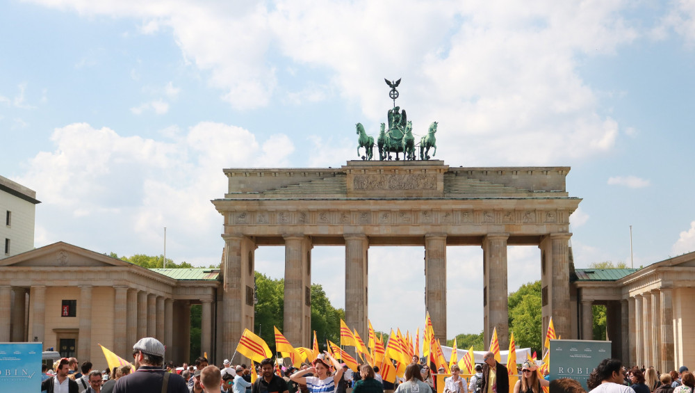 First time I saw the Brandenburg Gate with my own eyes in April of 2018.