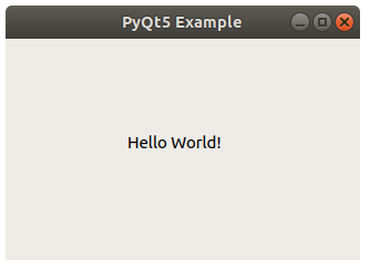 PyQt hello world