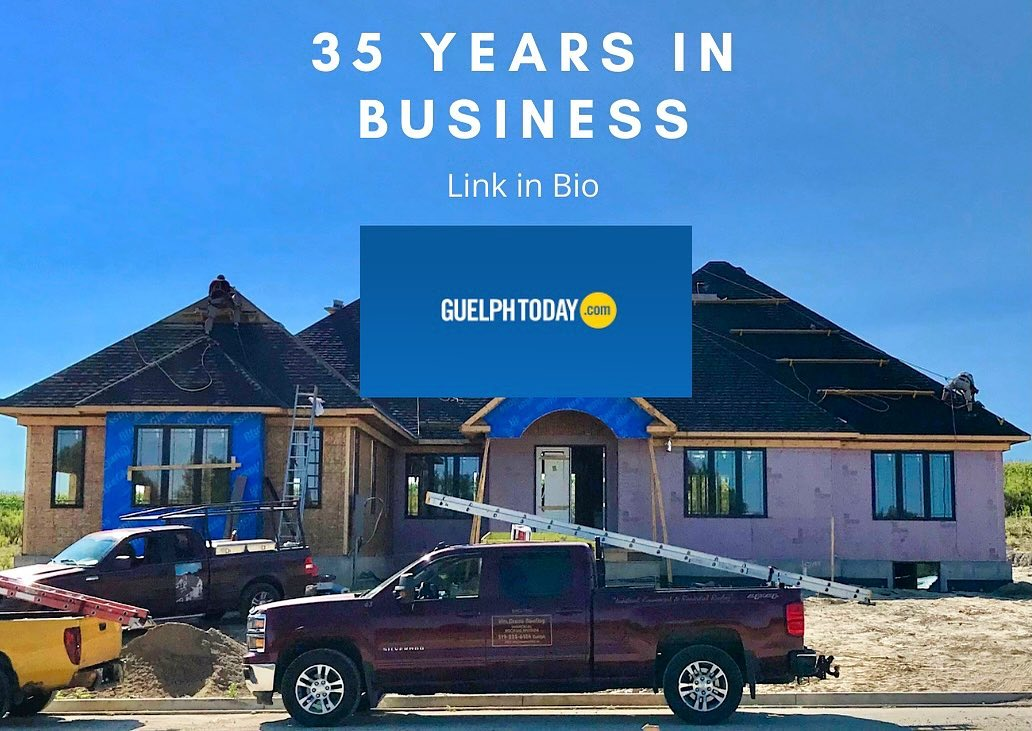 We are celebrating 35 years of business this January! Check out our spotlight article on Guelph Today - link in bio. . . . #guelphbusiness #roofingcontractor #35years