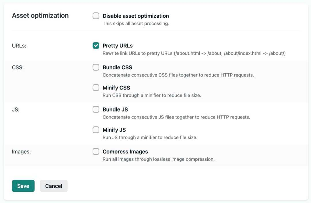 Netlify's Admin interface for asset optimization