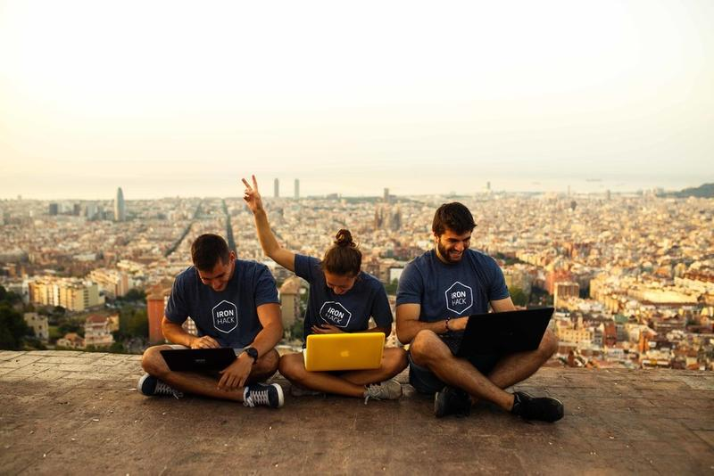 Ironhackers in Barcelona
