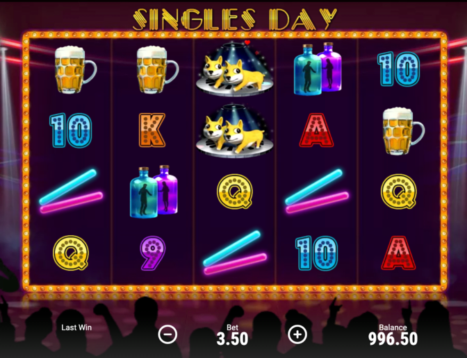 Screenshot Booongo Singles' Day promotion