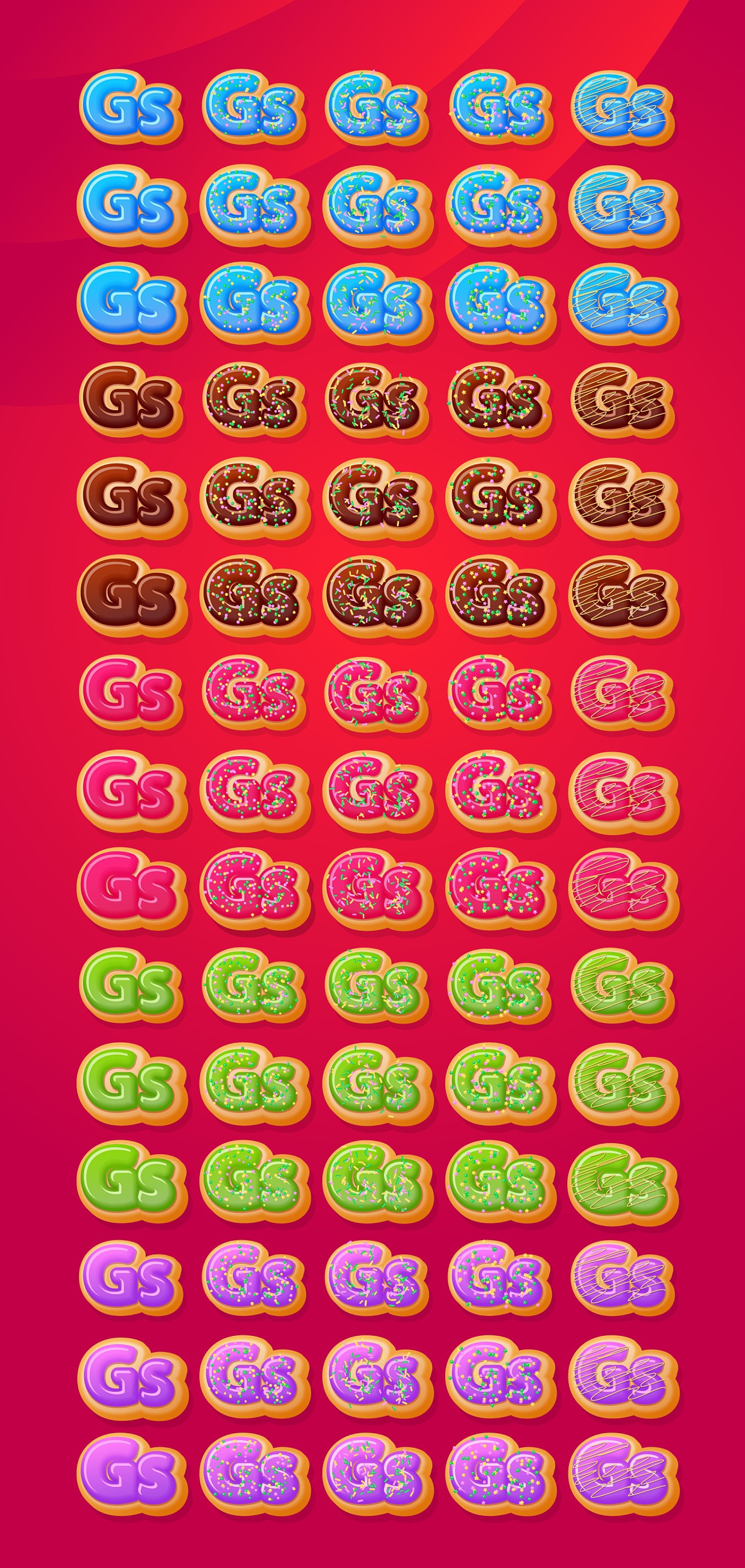 Donuts Adobe Illustrator Graphic style images/donuts_2_styles.jpg