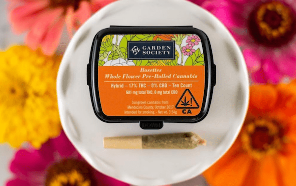 Garden Society sativa pre-rolled joints