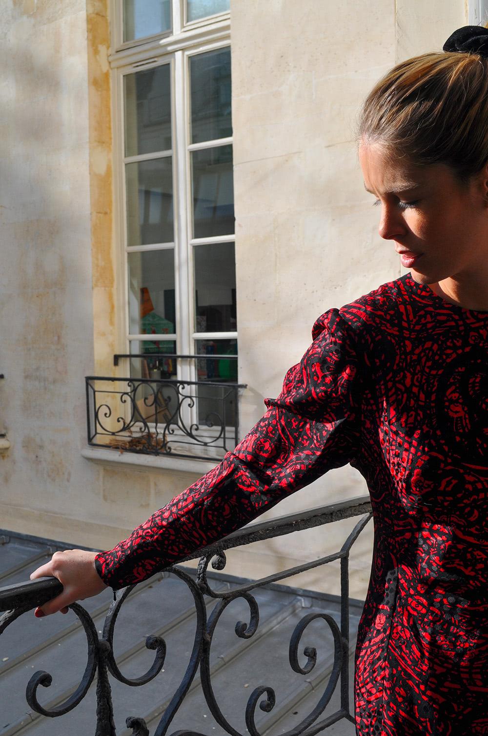 Ourlet de robe Bordeaux
